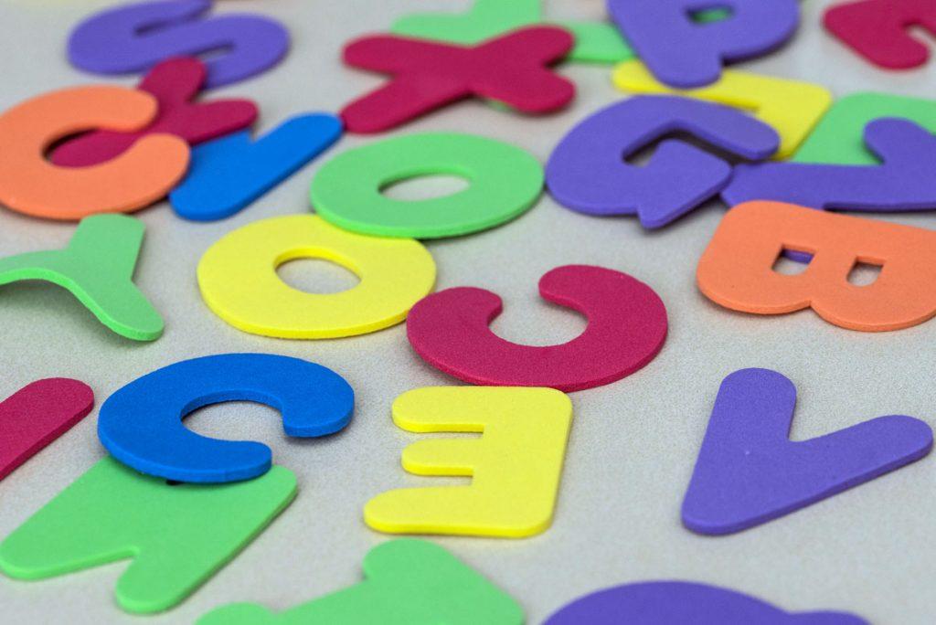 Moosgummi Spiel-Buchstaben